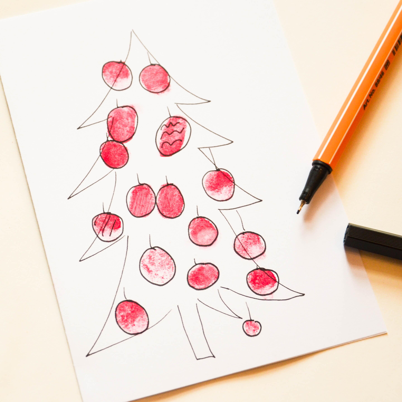 drei ideen f r weihnachtskarten wasf rmich. Black Bedroom Furniture Sets. Home Design Ideas