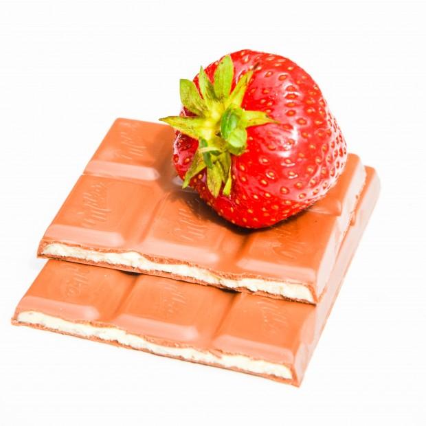 Erdbeere und Schokolade