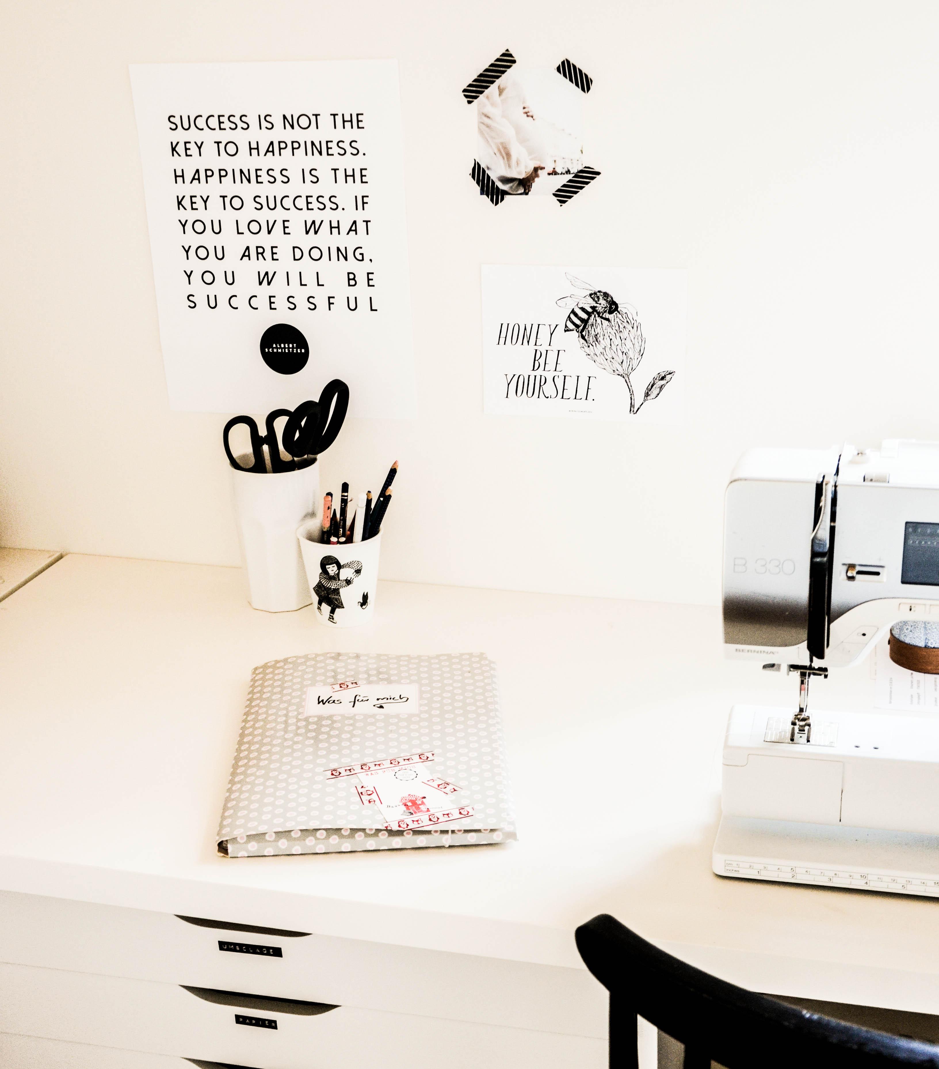 Arbeitszimmer, DIY, Schwarzweiß