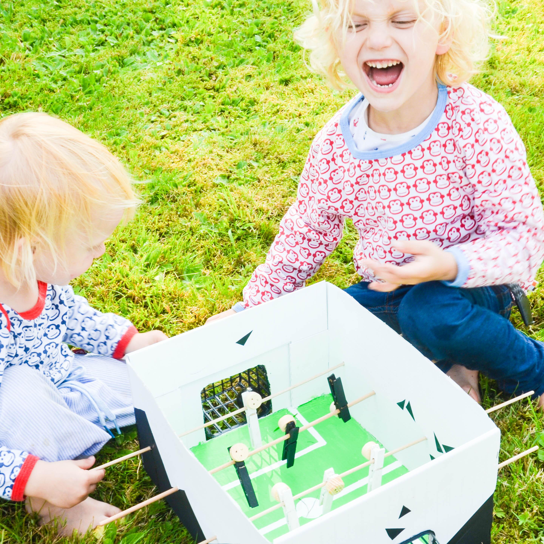 Tischkicker basteln, Basteln mit Kindern