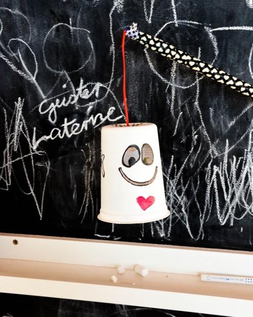 Geister Laterne, Yoghurt Becher, Halloween,