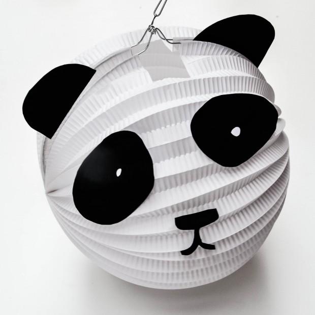 Laterne basteln, Panda,