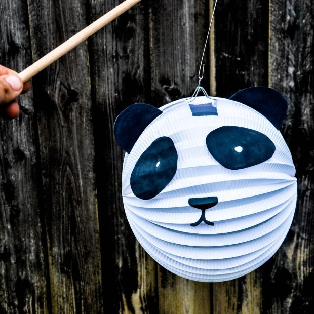 Panda Laterne, Laterne basteln