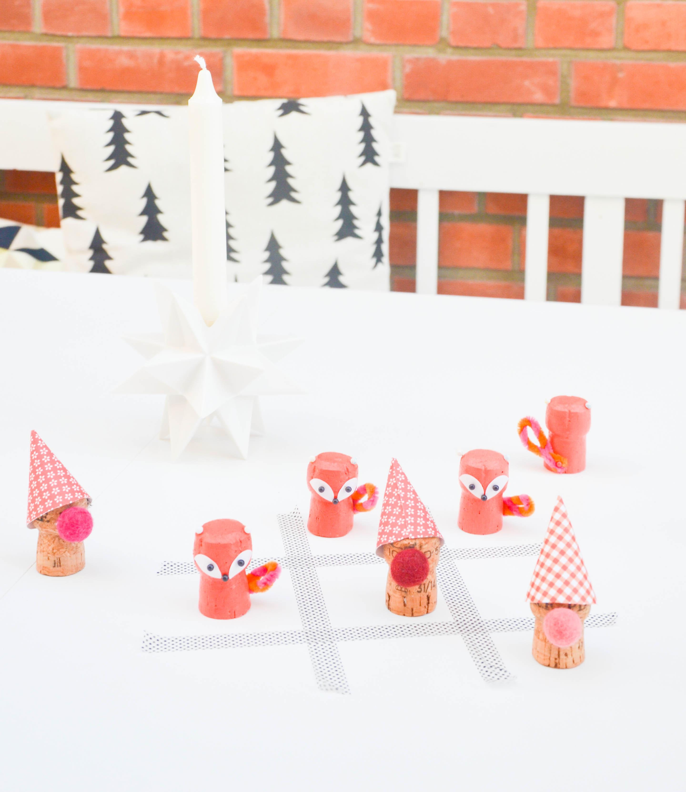 weihnachten, basteln mit kindern, tic tac toe