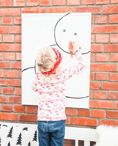 Weihnachten, Spiele für Kinder, Schneemann