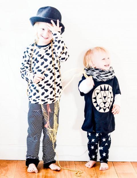 Jungsklamotten, Klamotten in schwarz und weiß