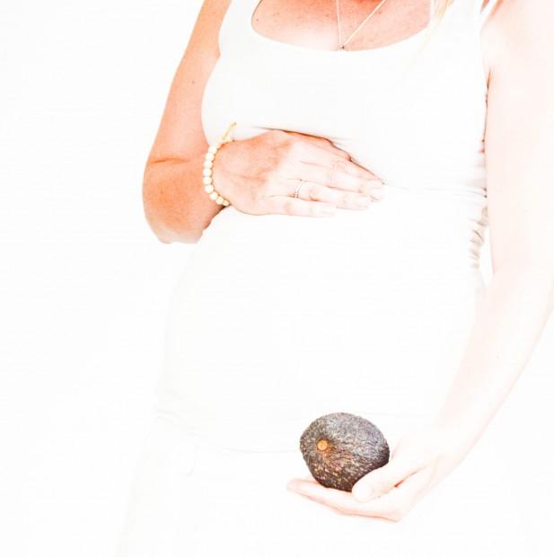 schwanger, Bauchbild, Avocado