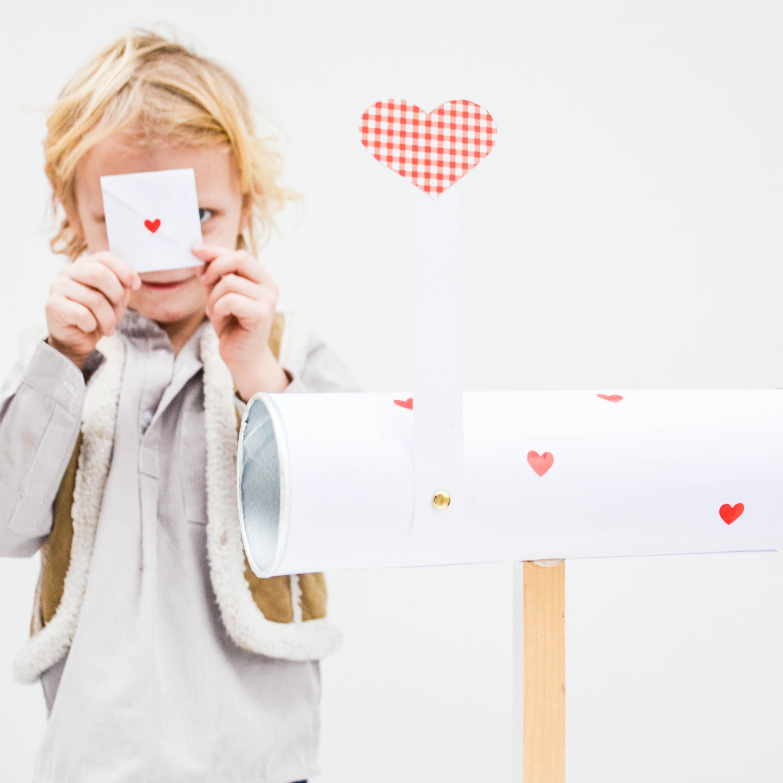 Valentinstag, Herzen, Kinderpost, Briefkasten basteln