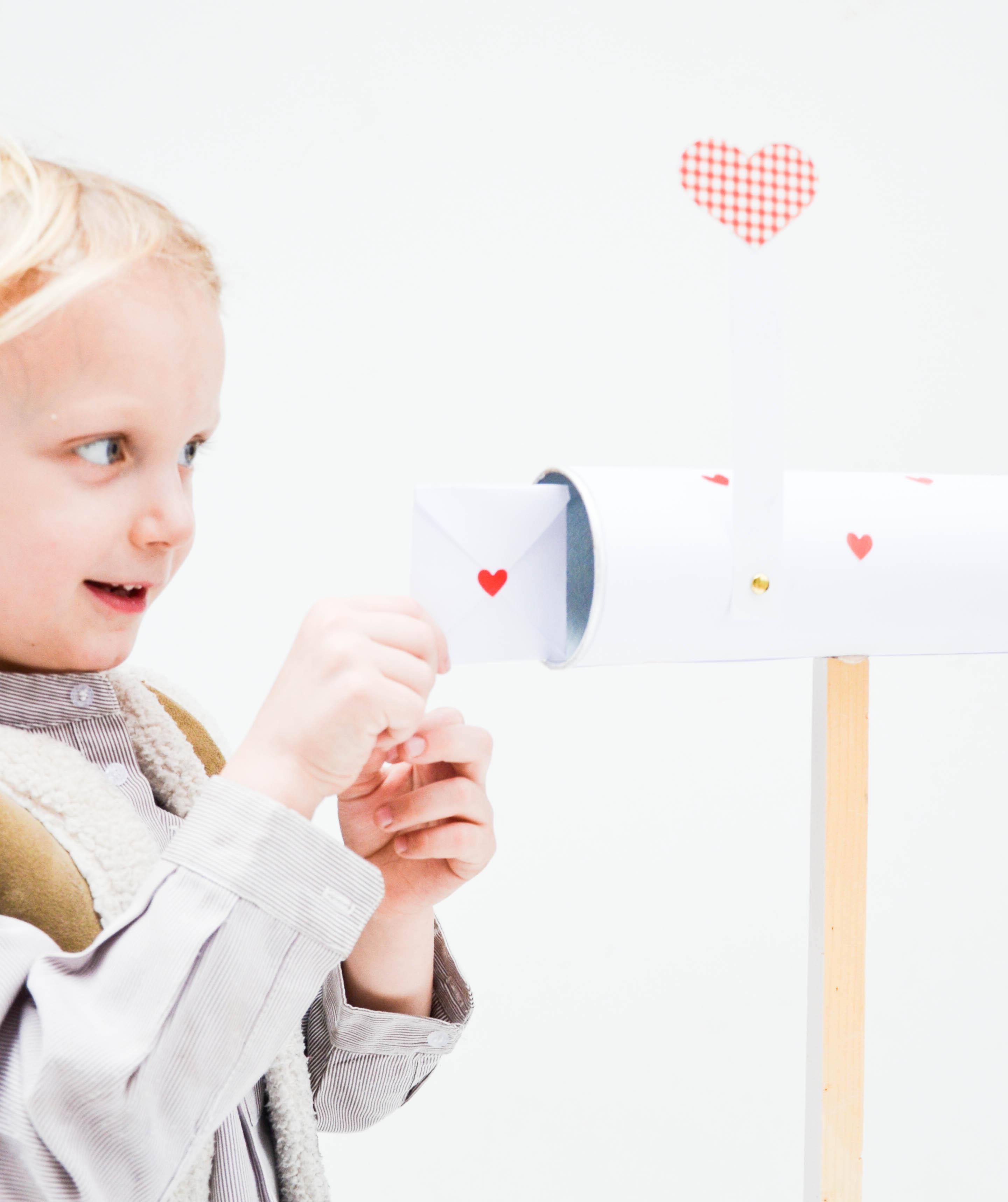 Valentinstag, Liebe, Diy, Basteln mit Kindern, Kinderpost