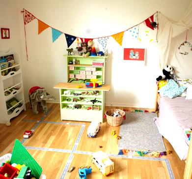 Lisa und Pelle, Kinderzimmer