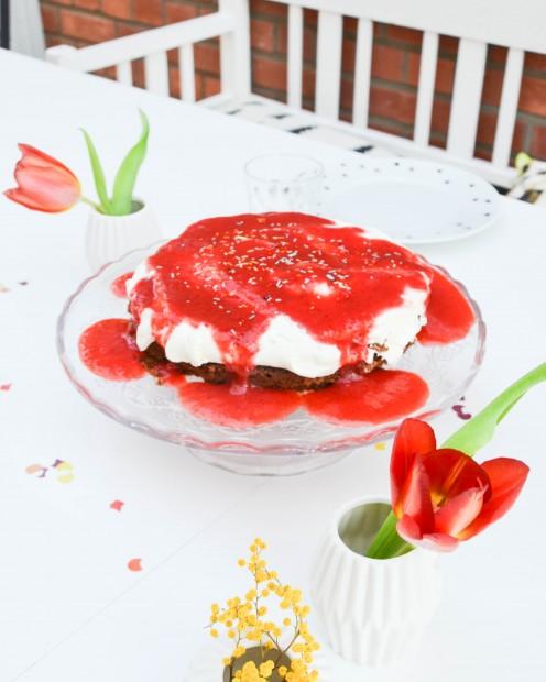 Erdbeertorte, Erdbeeren,