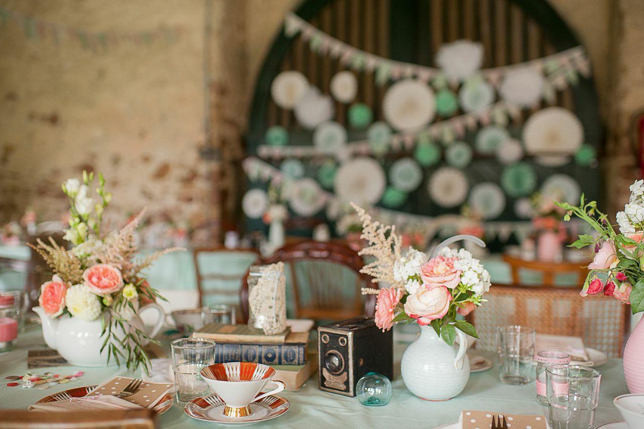 Hochzeit Vintage Omas Geschirr Familienhochzeit Taufe