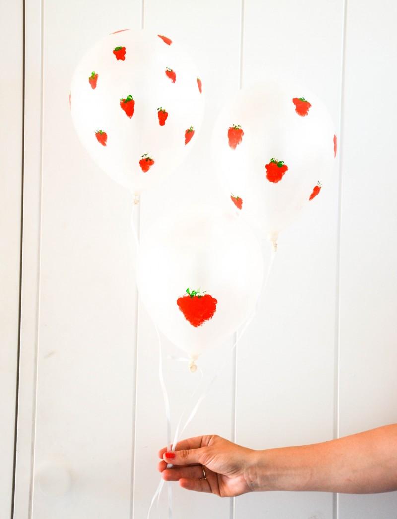 Mittsommer, Erdbeerballons