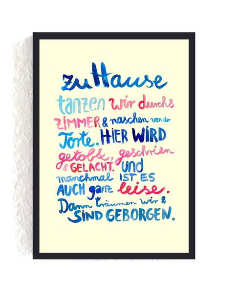 Pause, Frau Ottilie, Print, Hausordnung
