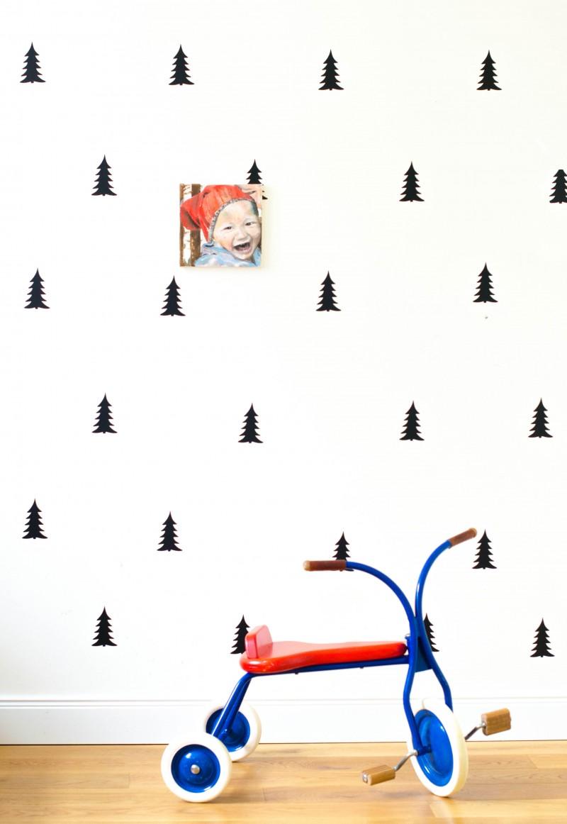 Wandsticker, Tannen, Tannenbäume