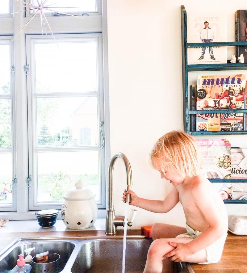Waschbecken, Füße waschen