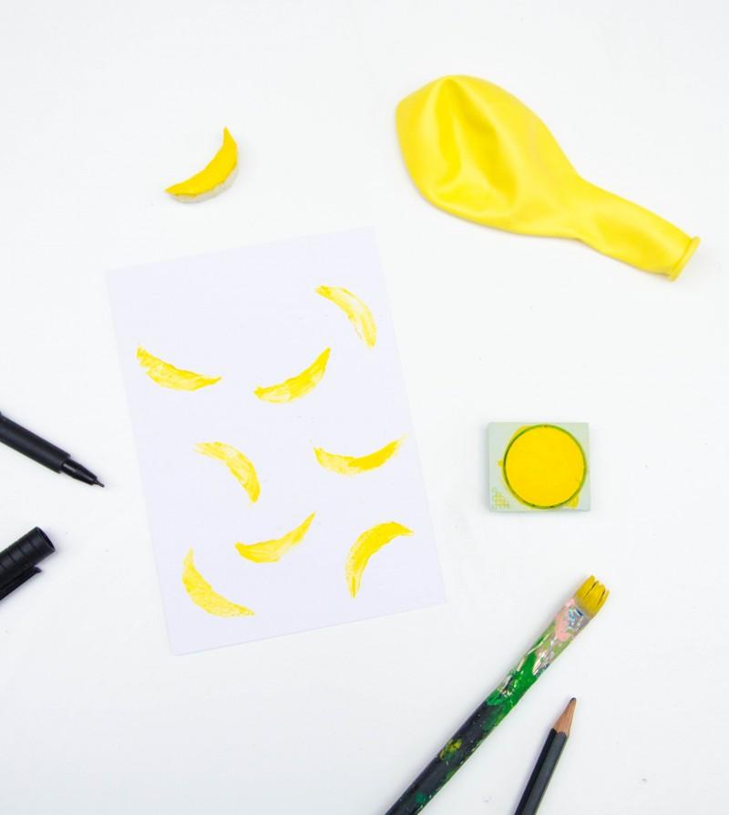 Bananen stempeln,
