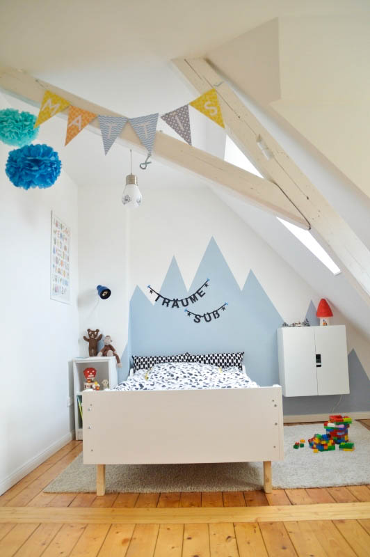 Kinderzimmer, Bett, KInderbett,