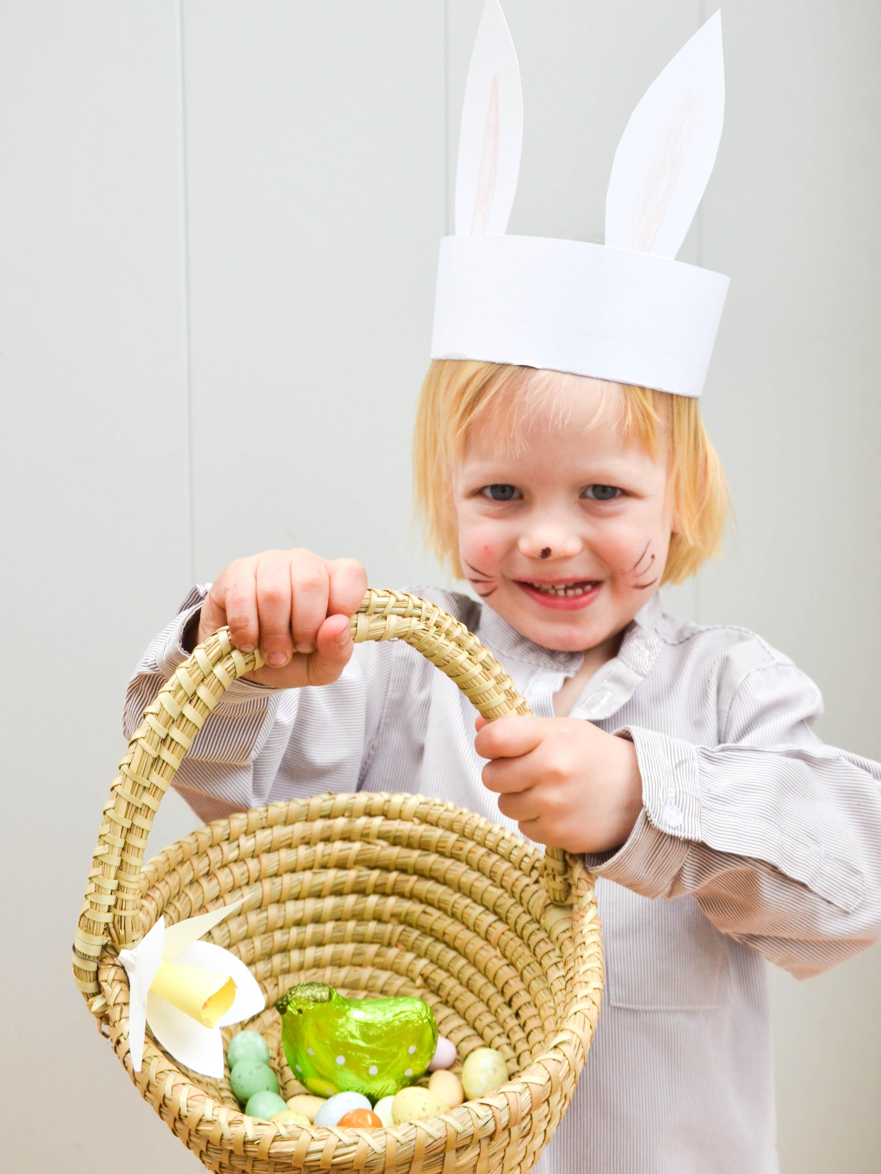 Ostern mit Kindern, Ostern, Osterkorb, Häschen, Osterhase