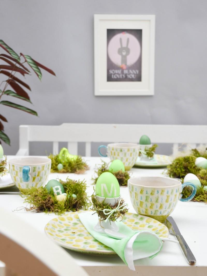 Ostertisch, Ostern, grün