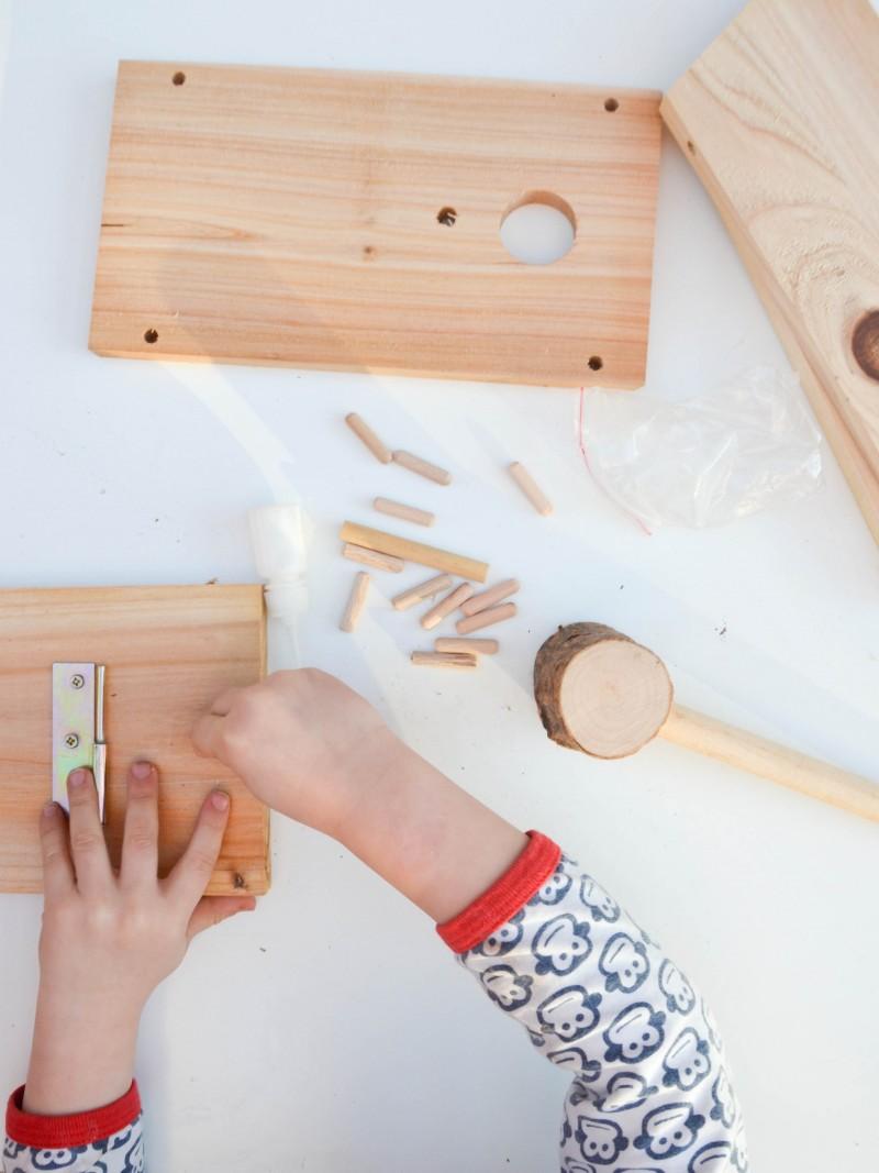DIY, Kreativ mit Kindern, Vogelhaus bauen