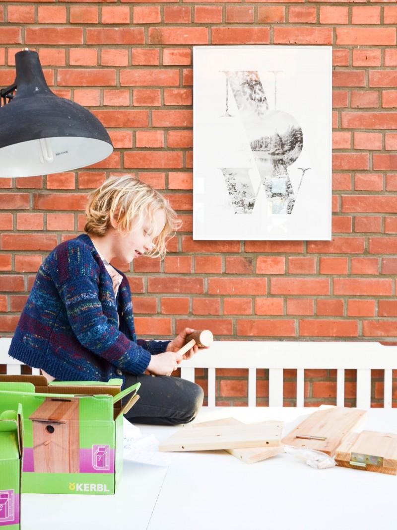 Bauen mit Holz, Vogelhaus mit Kindern bauen