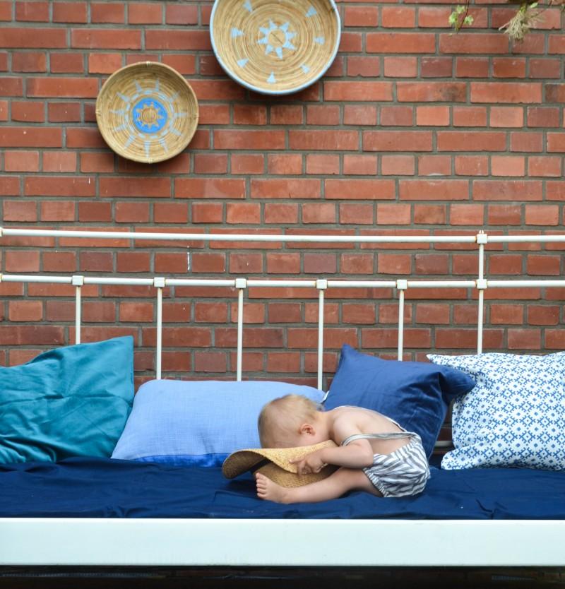 Terrassendeko, Draußenbett,