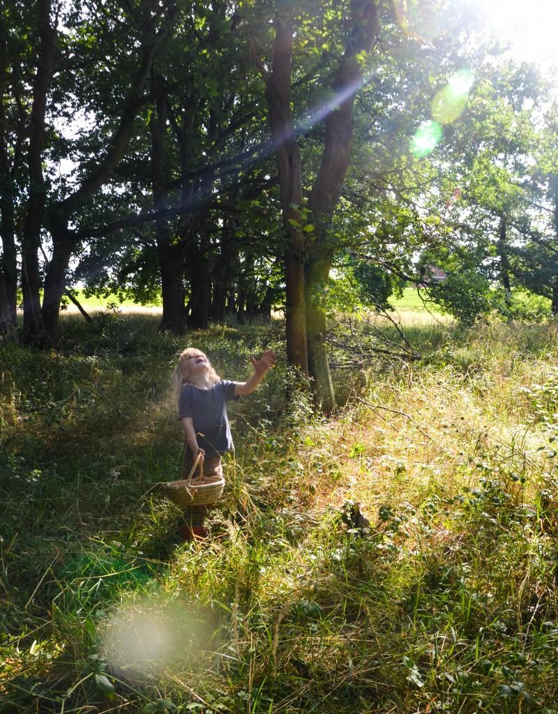 Kinderspiele, Mit Kindern in den Wald
