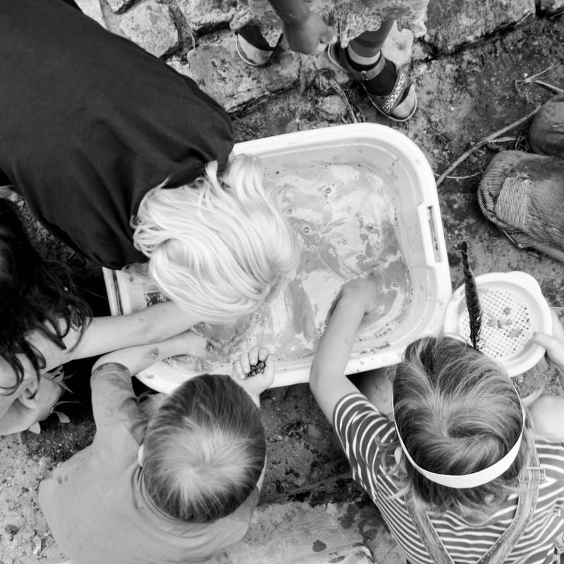 Gold waschen, Kinderspiele, Kindergeburtstag