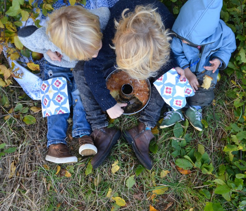 Herbstpicknick, Herbst, Picknick, Apfelkuchen,