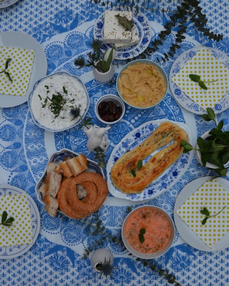 Hummus, türkische Vorpeisen,