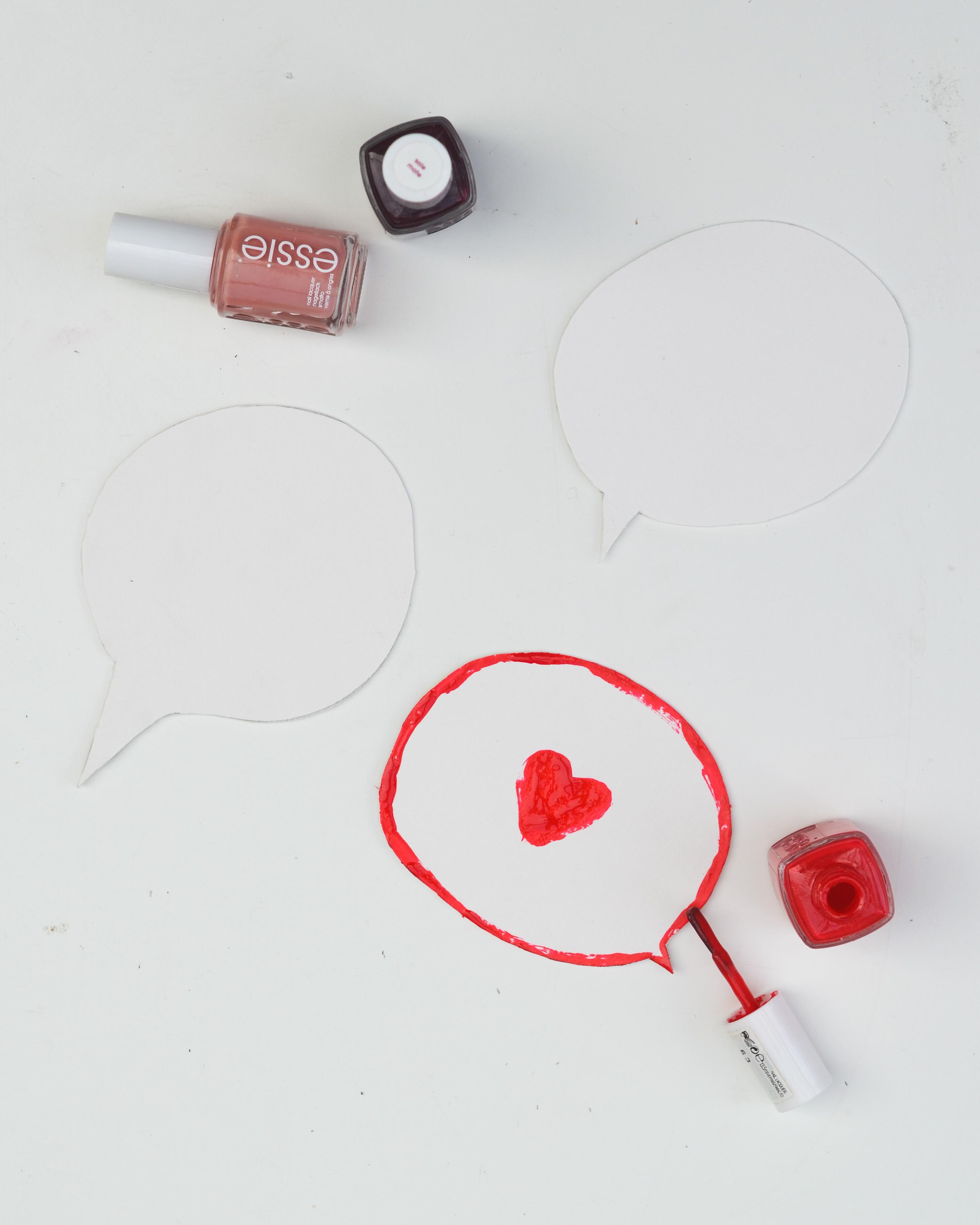 Fixe Diy Sprechblasen Zum Valentinstag Wasfürmich
