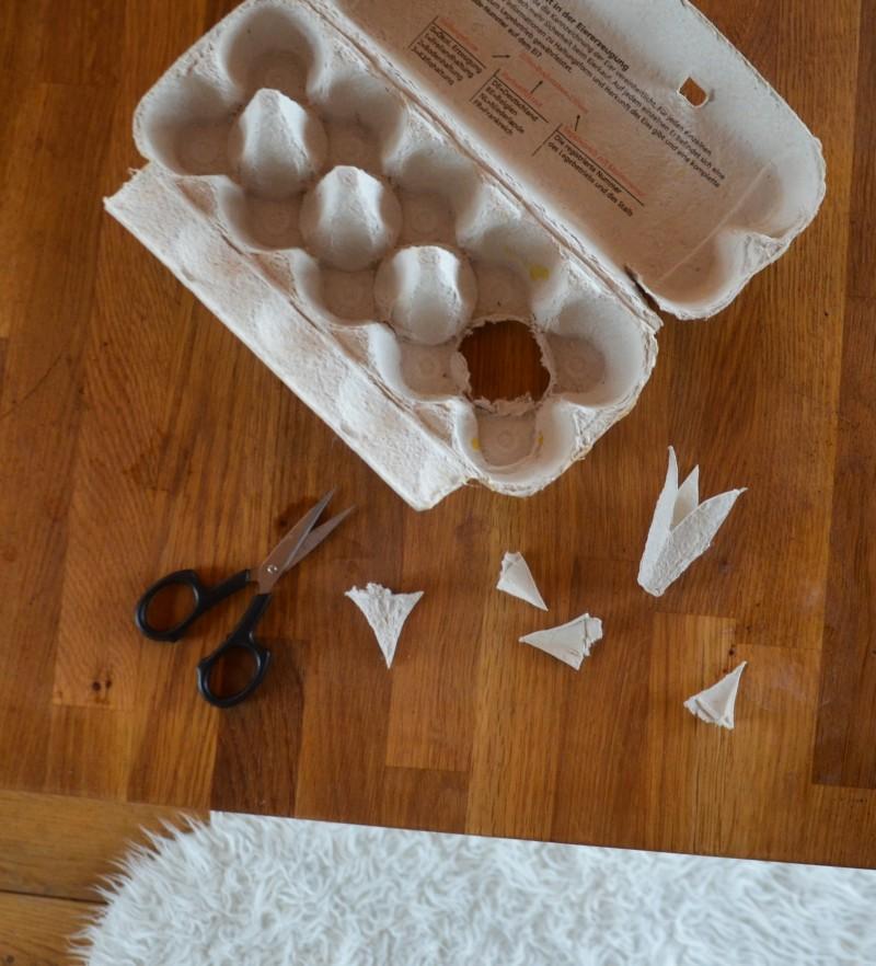 basteln mit Eierkartons, Basteln mit Kindern, Frühlingsbasteln