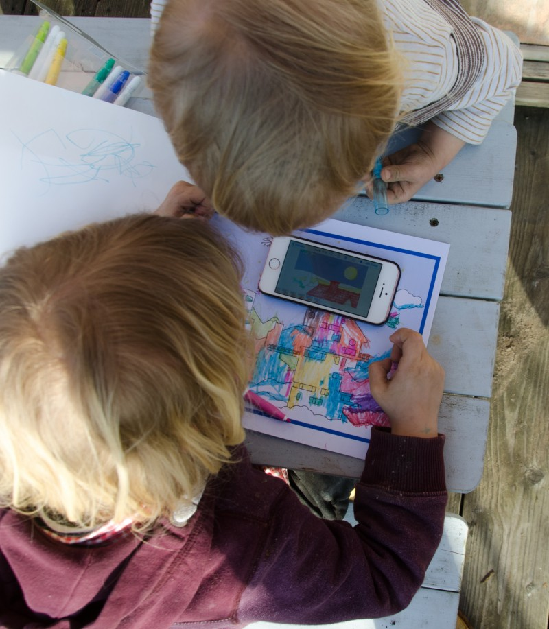 Malbuch, Malen mit Kindern