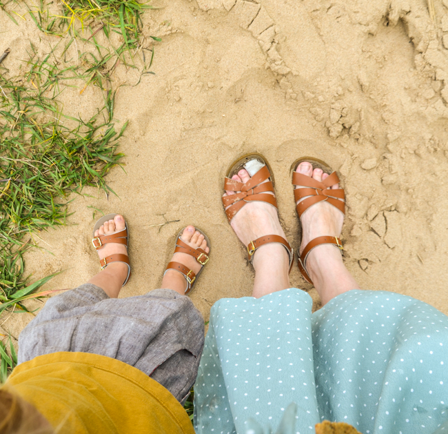 Partnerlook, Ledersandalen, Kindersandalen, wasserfeste Sandalen, Saltwater Sandals