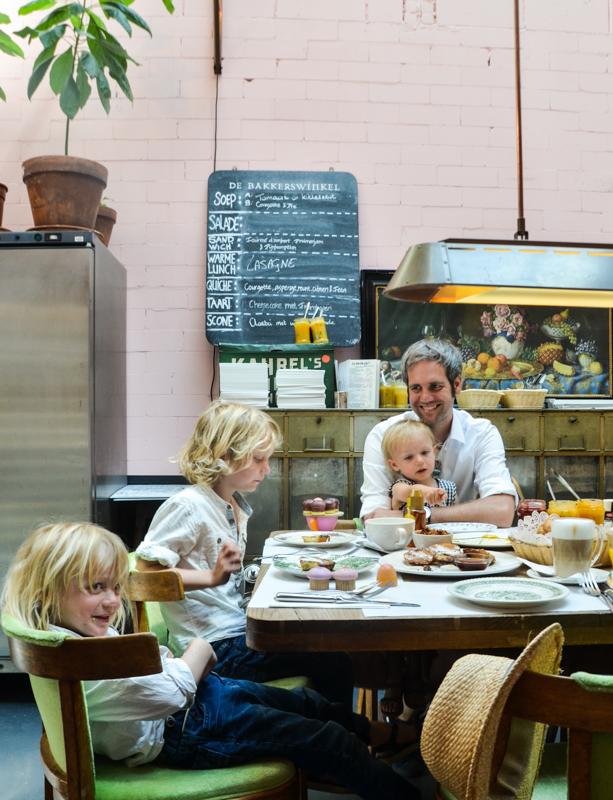 Amsterdam mit Kindern, Frühstücken in Amsterdam,