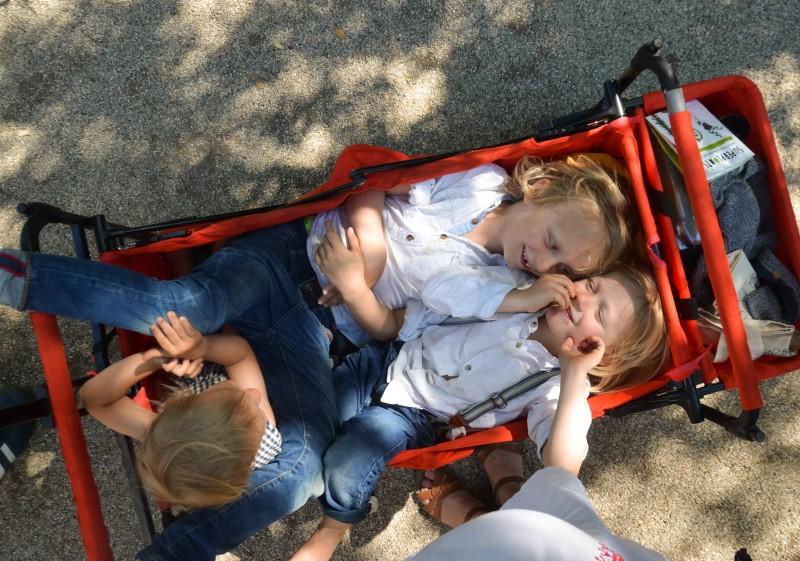 Amsterdam mit Kindern, Fuxtec Bollerwagen,