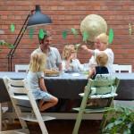 Ein Sommerabend mit Basilikum-Brause, Blätter-Spiel (& frischen Farben von Stokke)