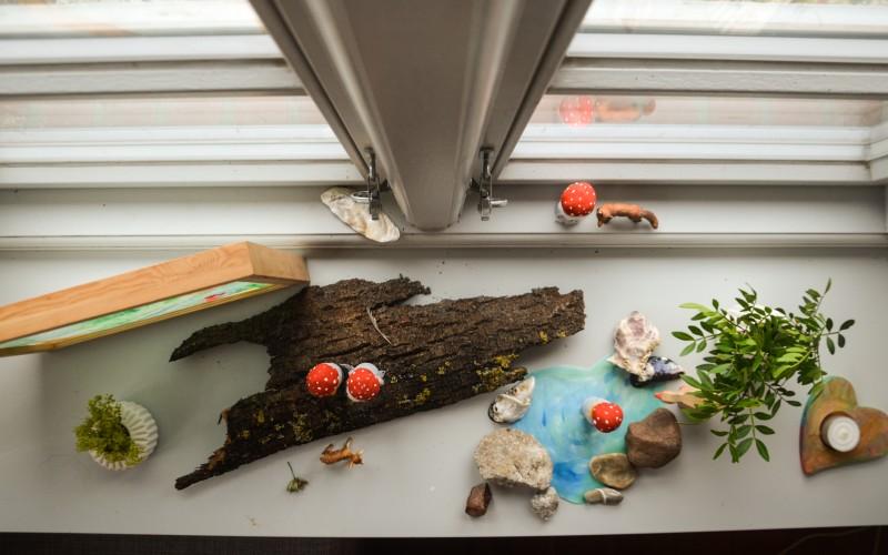 DIY Lampe, Jahreszeitentisch,