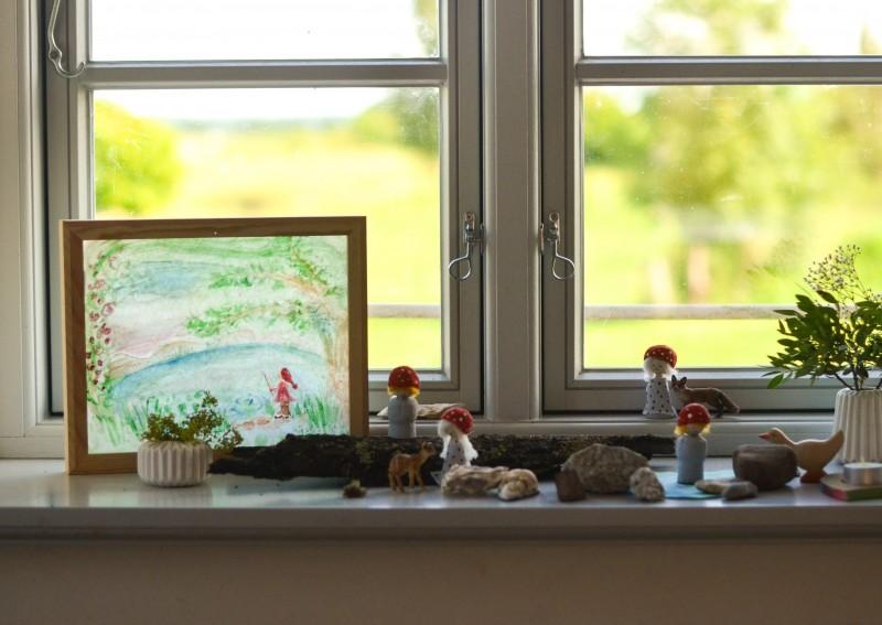 Lampe für den Jahreszeitentisch, Printable, Sommer