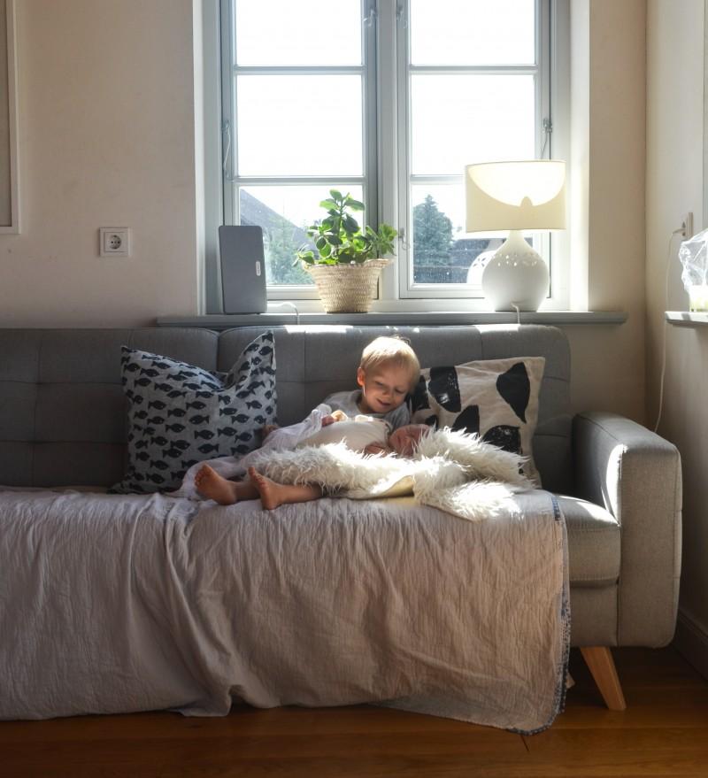 Wochenbett, Baby, Geschwister