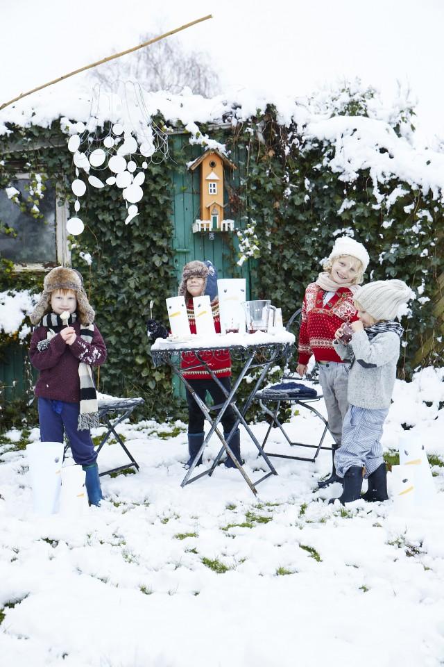 Basteln ,it Kinder, Weihnachten, Winter