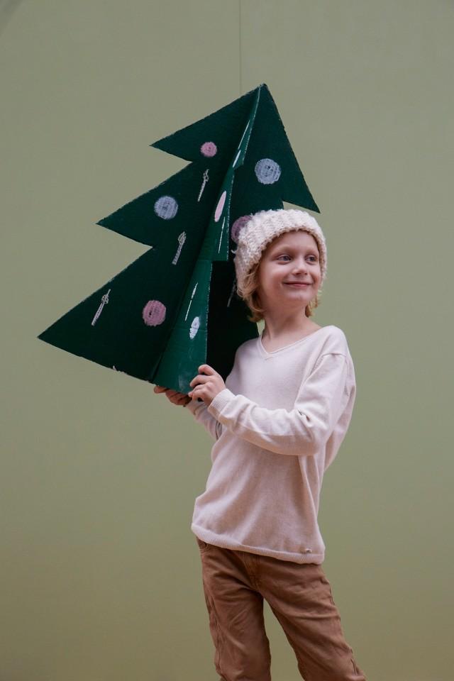 basteln mit kindern, winter und weihnachten