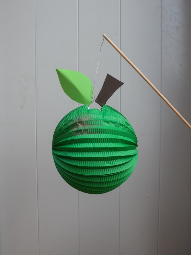 Apfel, Herbst, basteln mit Kindern