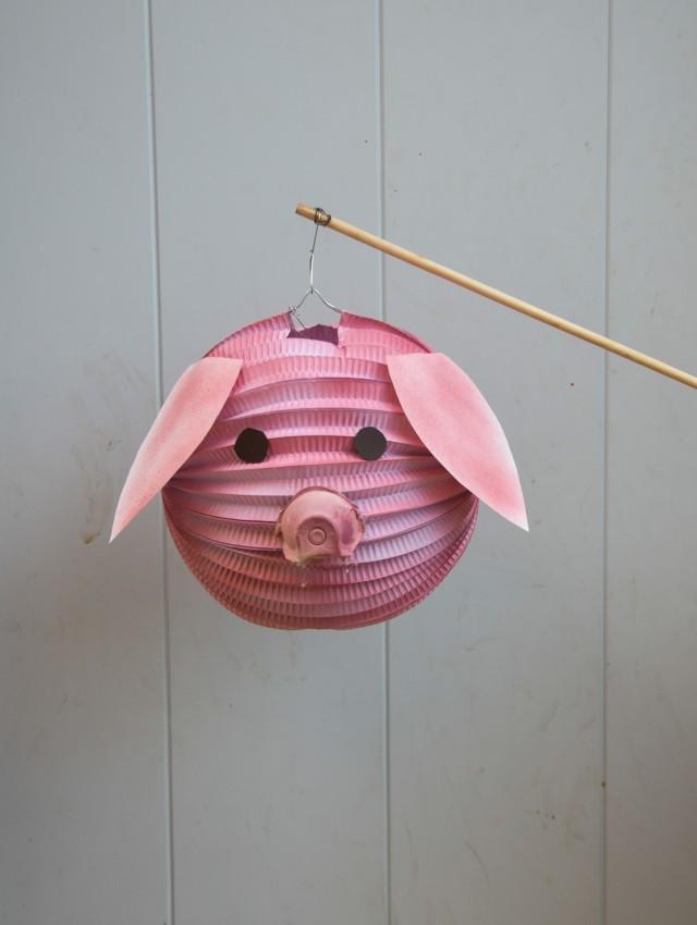 Schweine Laterne