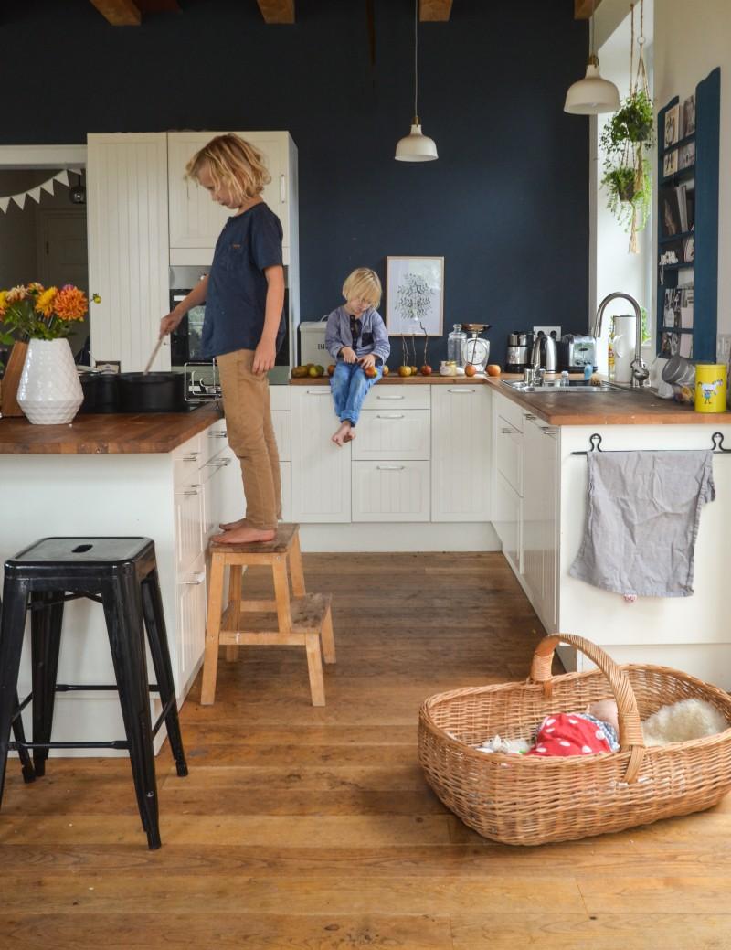 Kochen mit Kindern, Küche, Herbst