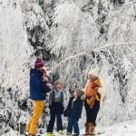 Skifahren mit Kindern in Winterberg (das erste Mal zu sechst ..
