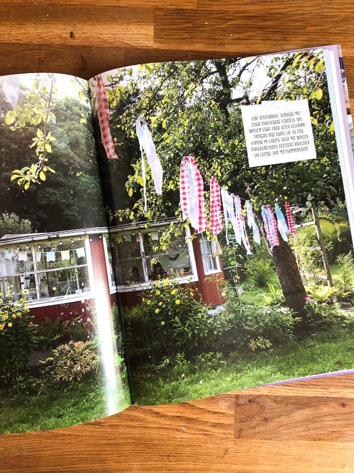 Gartenideen, Mittsommer, Girlande nähen, Schwedenstyle,