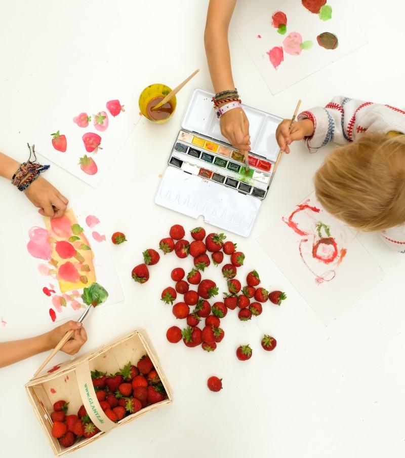 Malen mit Kindern,Stillleben mit Kindern