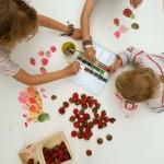 Obst-Stillleben mit Kindern malen